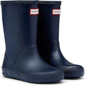 Kids Navy Hunter First Rain Boots Wellies - 9
